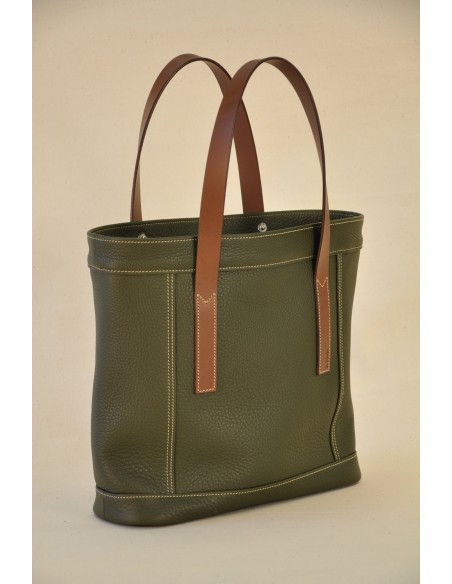 Valentine bag in khaki taurillon leather.