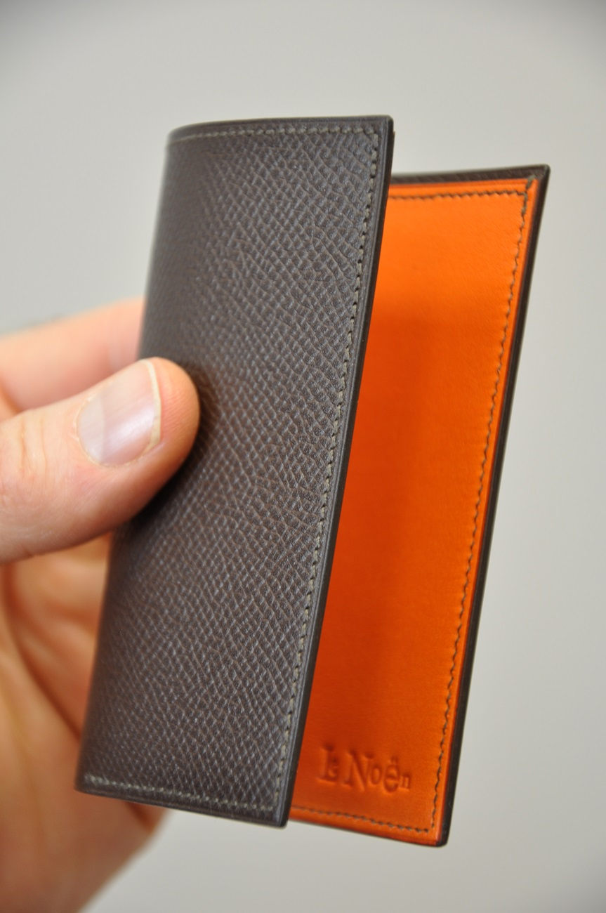Cards holder in grained calfskin, special order for customer.